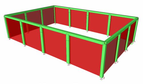 Výpočtový model nosnej konštrukcie stien
